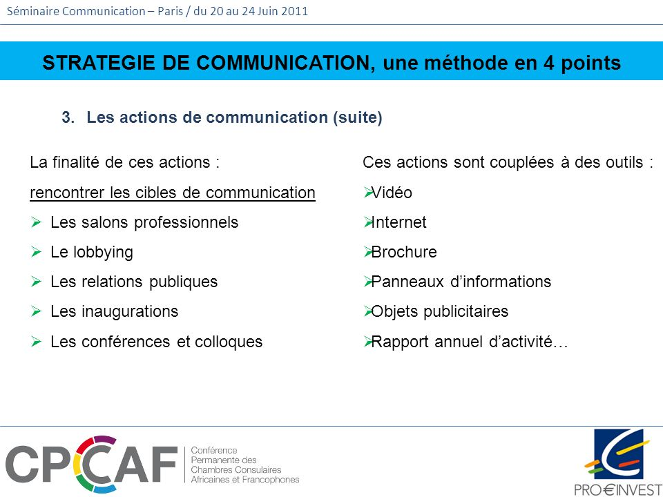 STRATEGIE DE COMMUNICATION, une méthode en 4 points