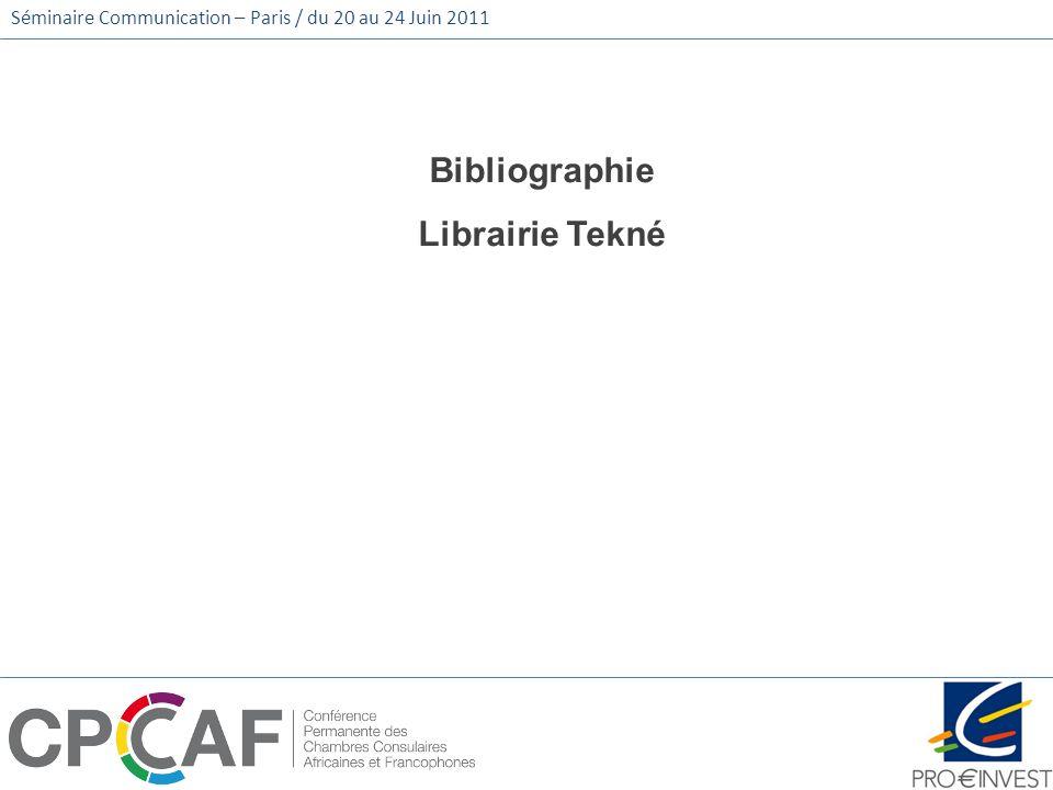 Bibliographie Librairie Tekné