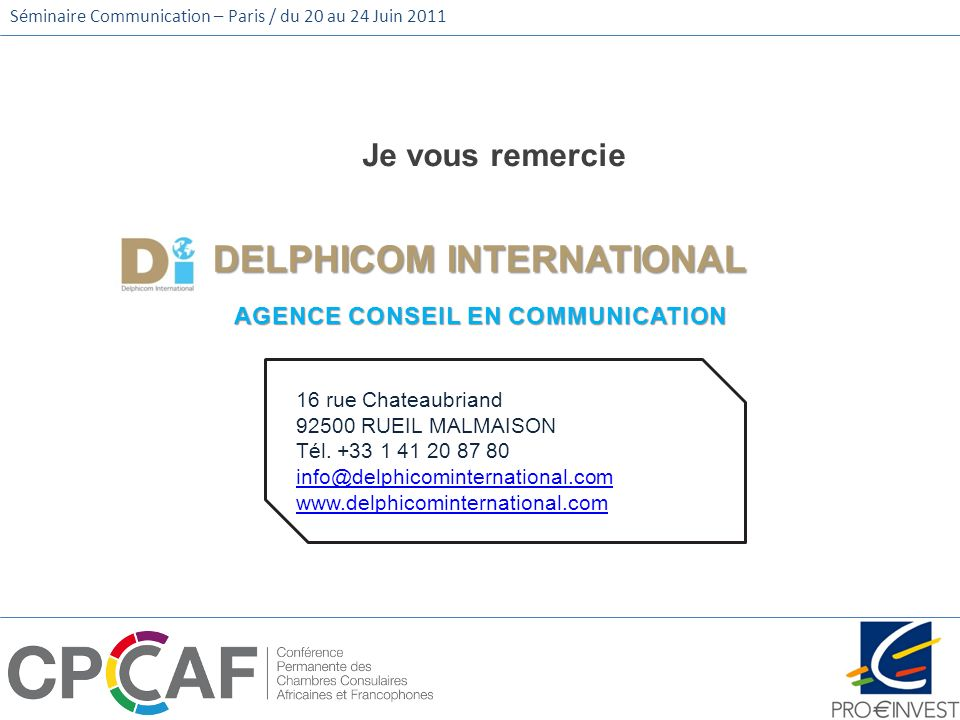 DELPHICOM INTERNATIONAL AGENCE CONSEIL EN COMMUNICATION