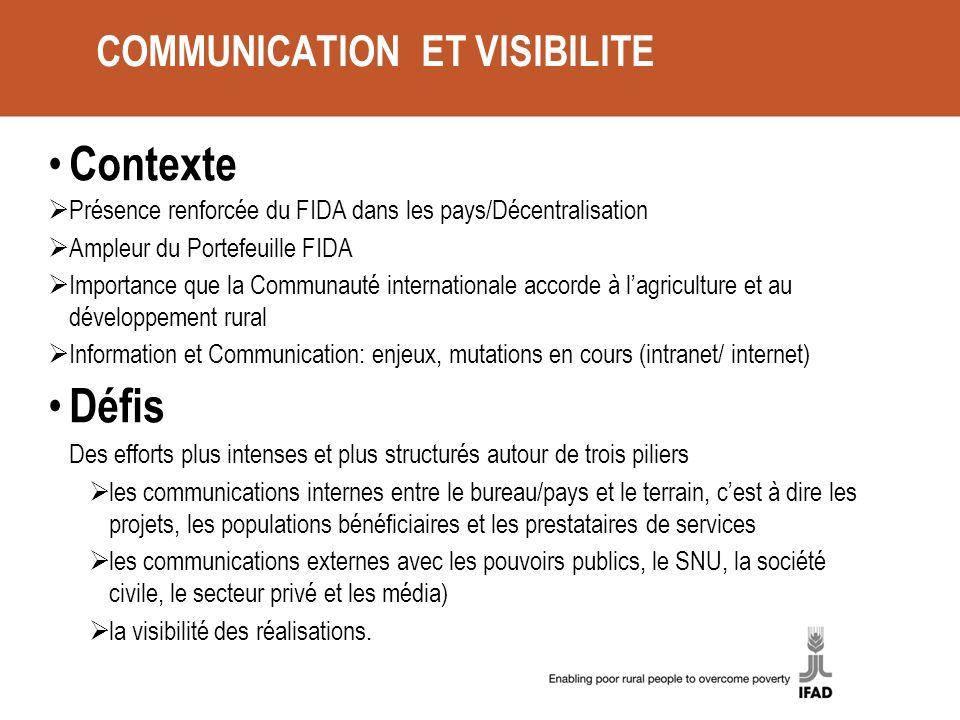 COMMUNICATION ET VISIBILITE