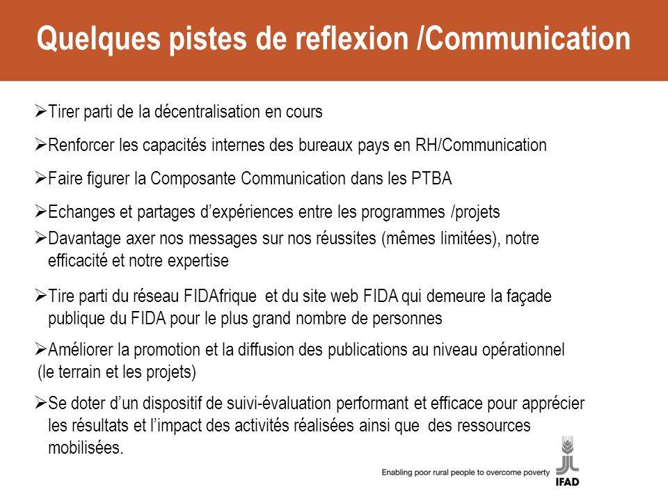 Quelques pistes de reflexion /Communication