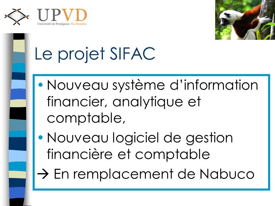 Le projet SIFAC Nouveau système d'information financier, analytique et comptable, Nouveau logiciel de gestion financière et comptable.
