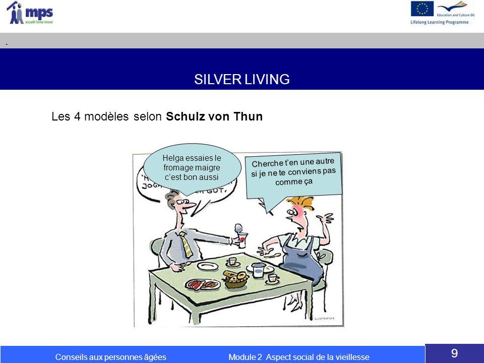 SILVER LIVING . Les 4 modèles selon Schulz von Thun 9