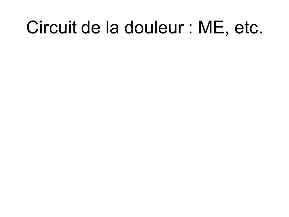 Circuit de la douleur : ME, etc.