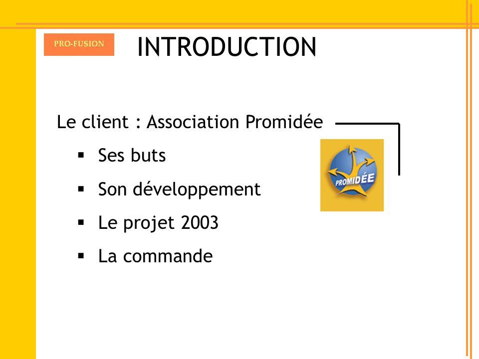 INTRODUCTION Ses buts Son développement Le projet 2003 La commande