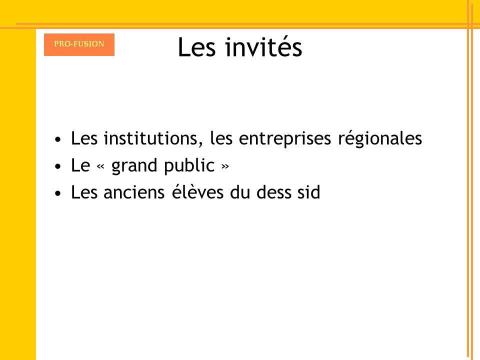 Les invités Les institutions, les entreprises régionales