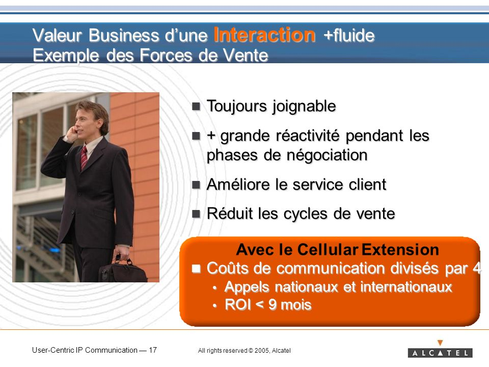 Valeur Business d'une Interaction +fluide Exemple des Forces de Vente