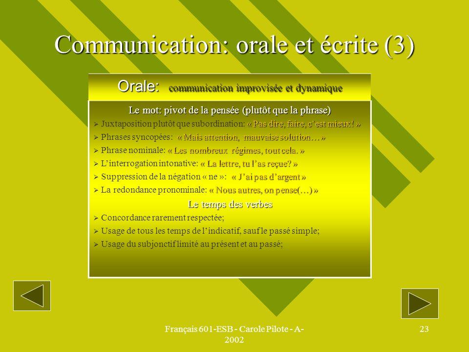 Communication: orale et écrite (3)