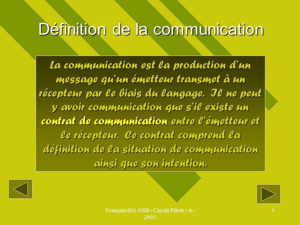 Définition de la communication