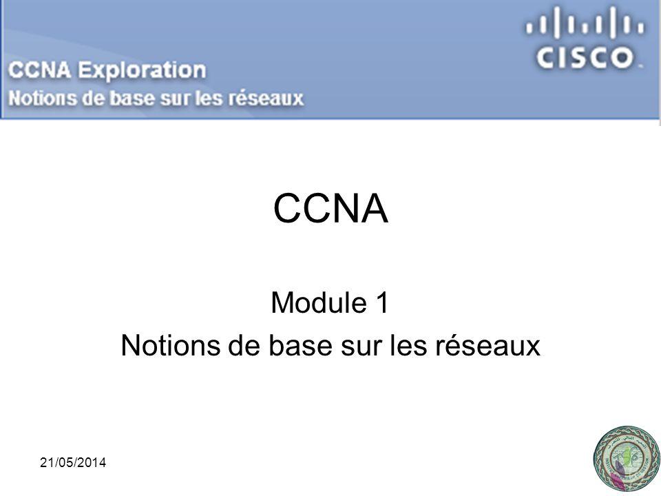 Module 1 Notions de base sur les réseaux