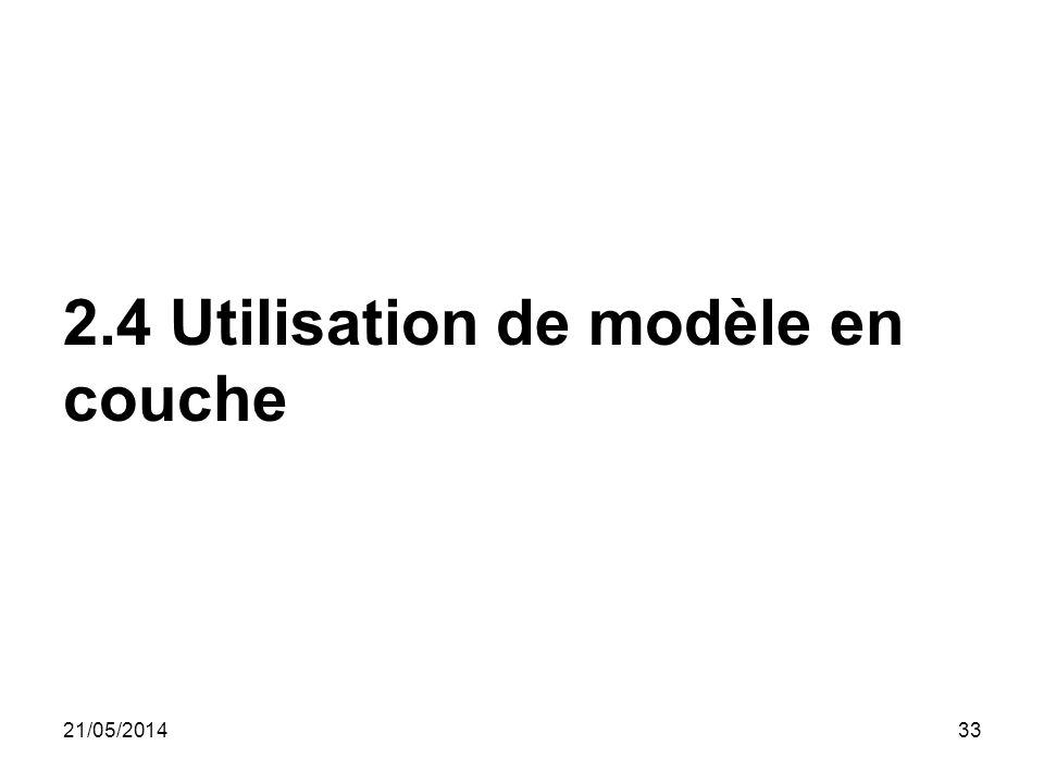 2.4 Utilisation de modèle en couche