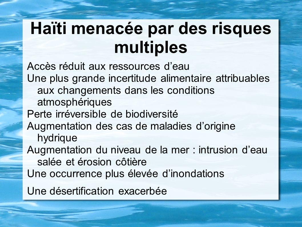 Haïti menacée par des risques multiples
