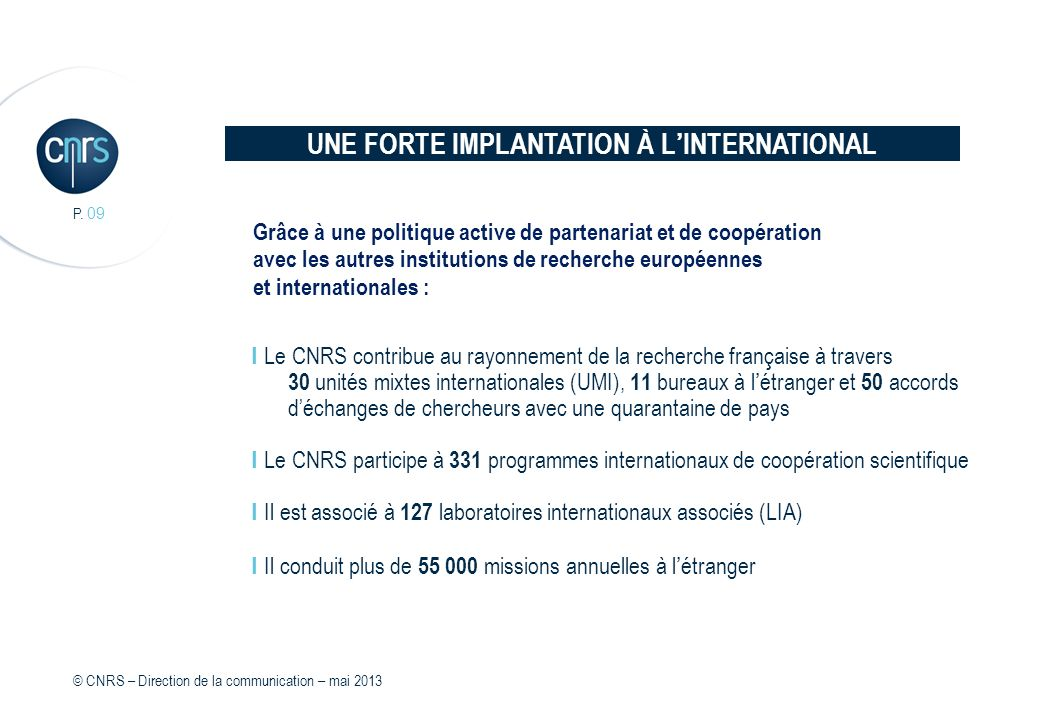 UNE FORTE IMPLANTATION À L'INTERNATIONAL