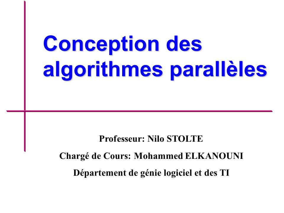 Conception des algorithmes parallèles