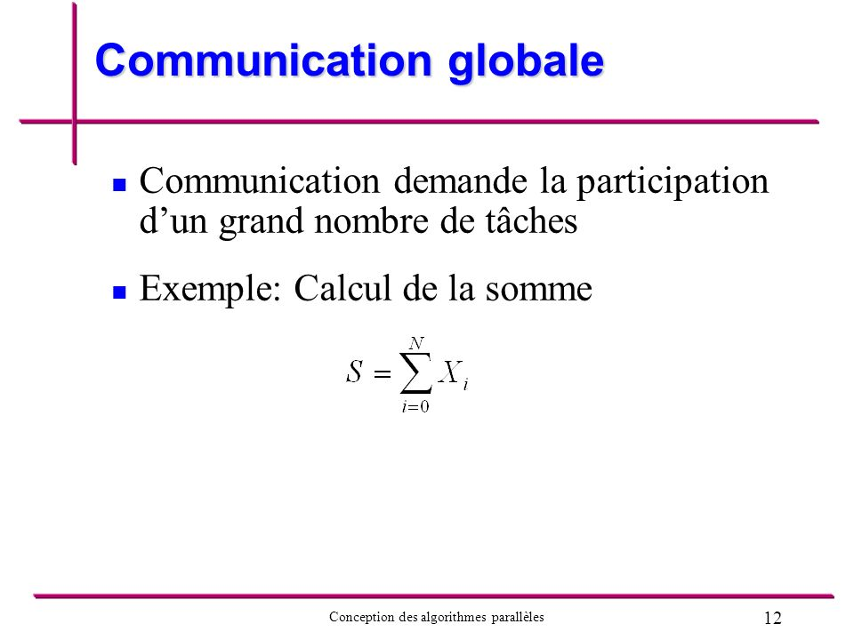 Communication globale
