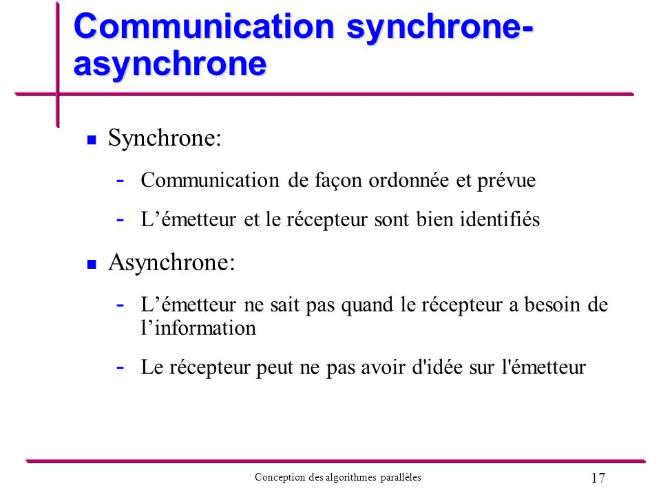 Communication synchrone-asynchrone