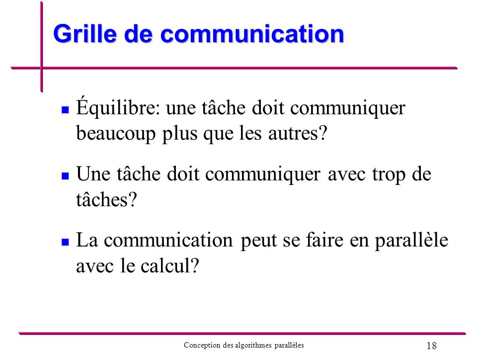 Grille de communication