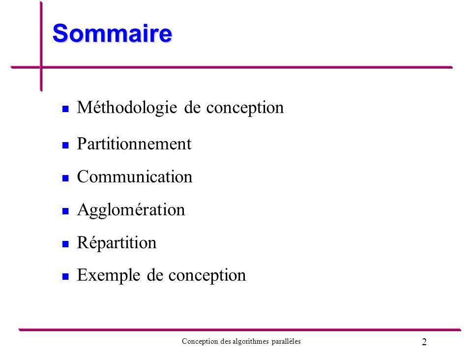 Sommaire Méthodologie de conception Partitionnement Communication