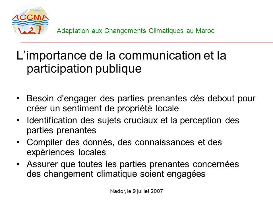 L'importance de la communication et la participation publique