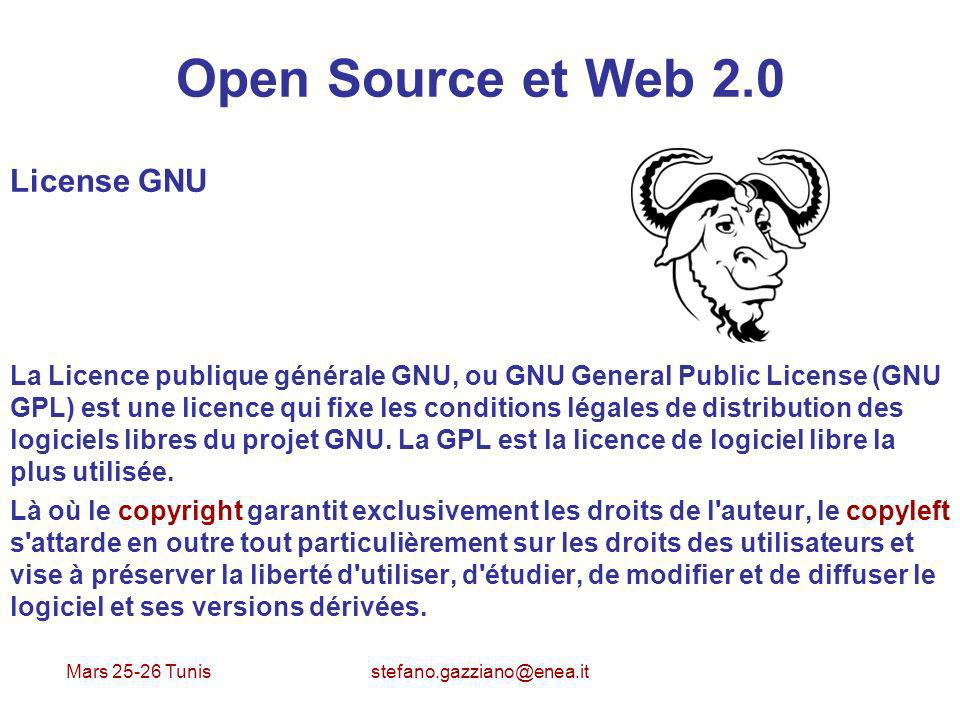 Open Source et Web 2.0 License GNU