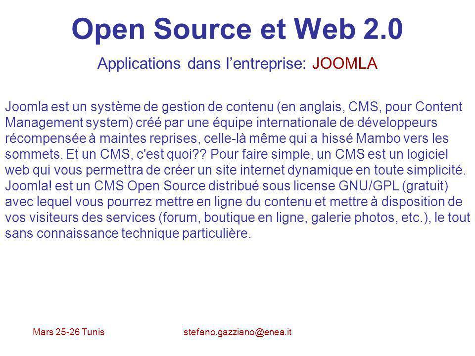 Applications dans l'entreprise: JOOMLA