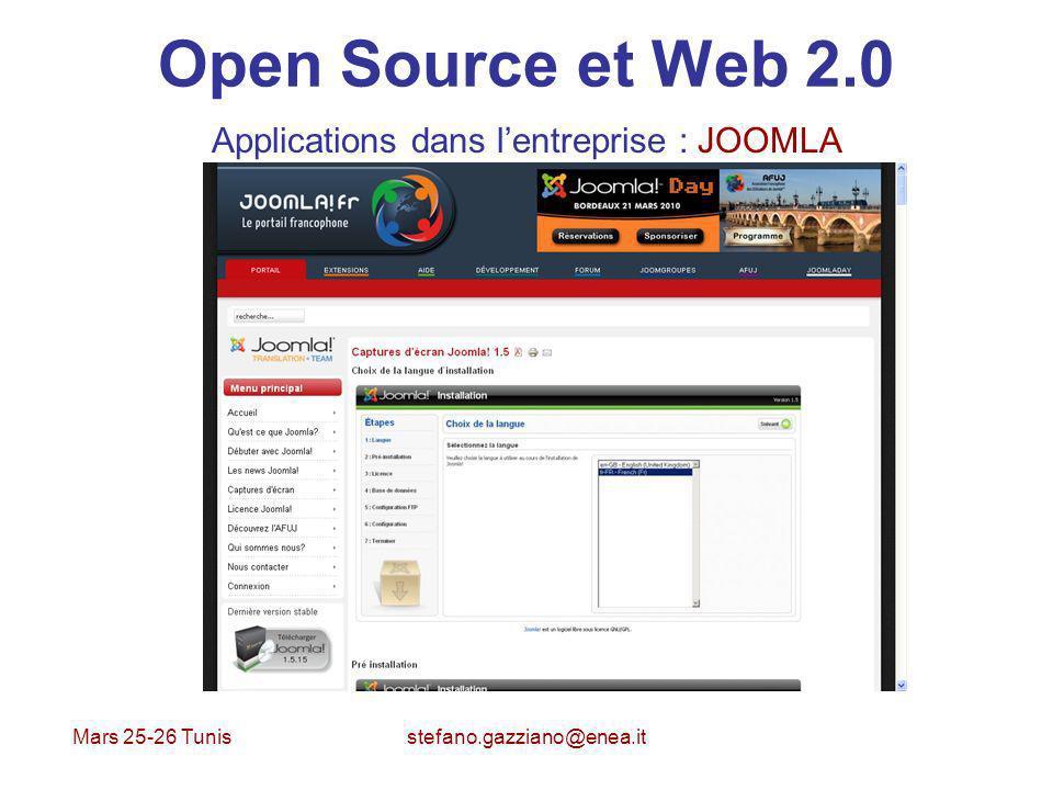 Applications dans l'entreprise : JOOMLA