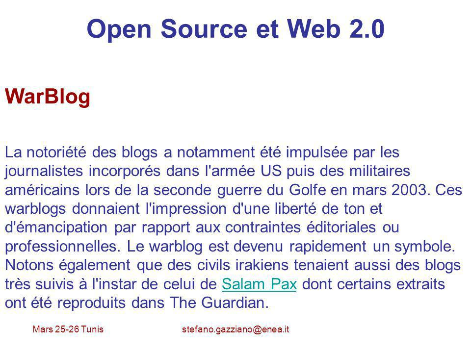 Open Source et Web 2.0 WarBlog