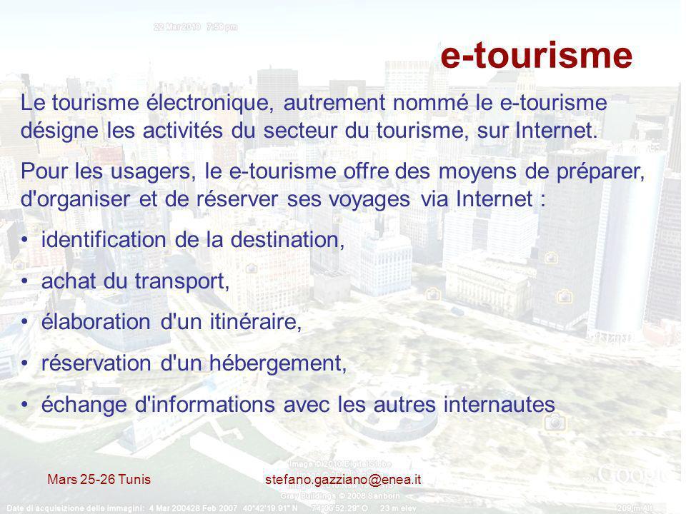 e-tourisme Le tourisme électronique, autrement nommé le e-tourisme désigne les activités du secteur du tourisme, sur Internet.
