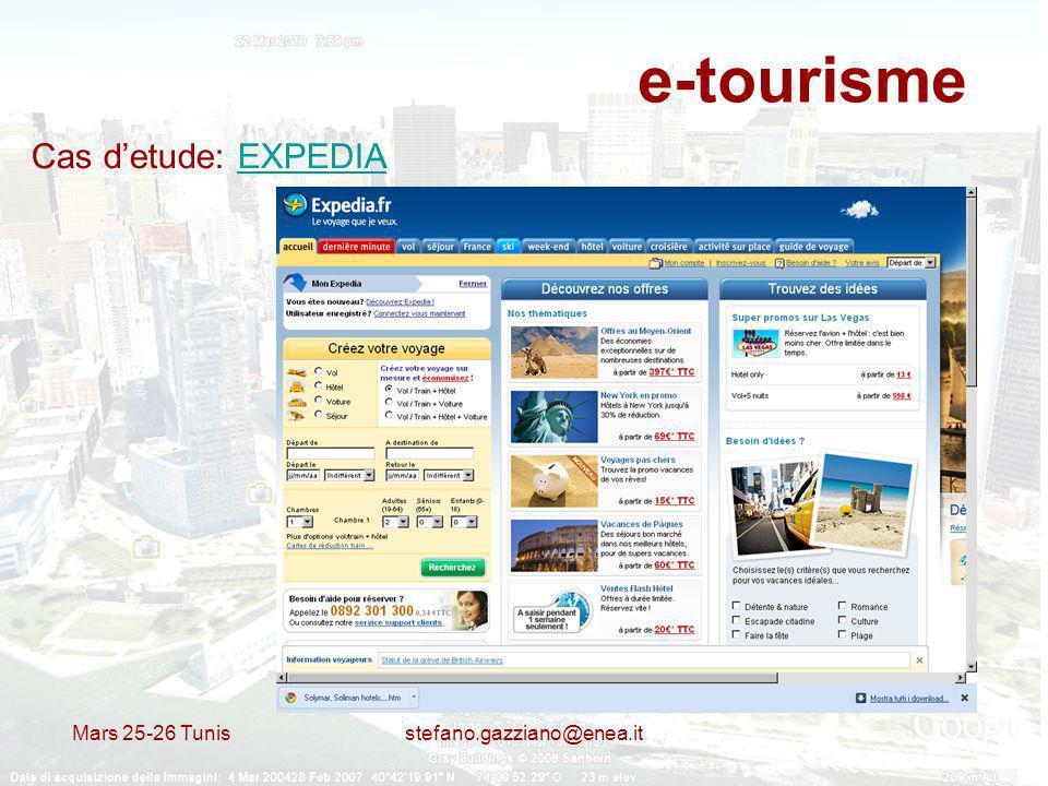 e-tourisme Cas d'etude: EXPEDIA Mars 25-26 Tunis