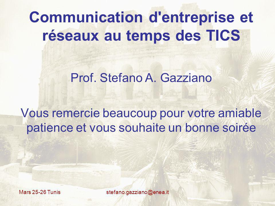 Communication d entreprise et réseaux au temps des TICS