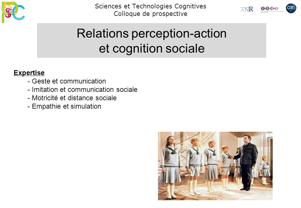 Sciences et Technologies Cognitives Colloque de prospective
