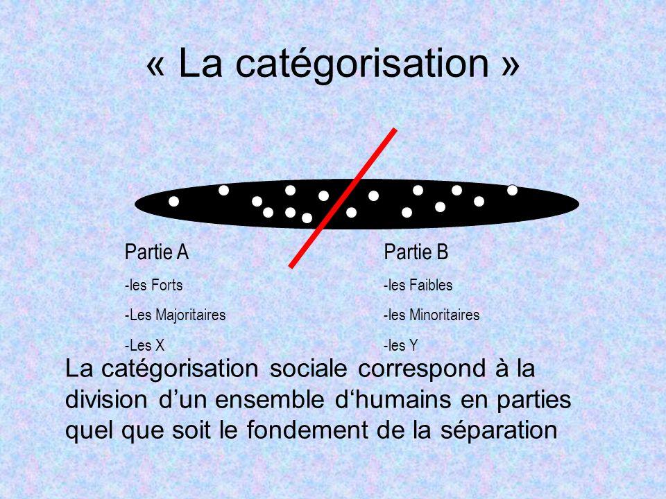 « La catégorisation »