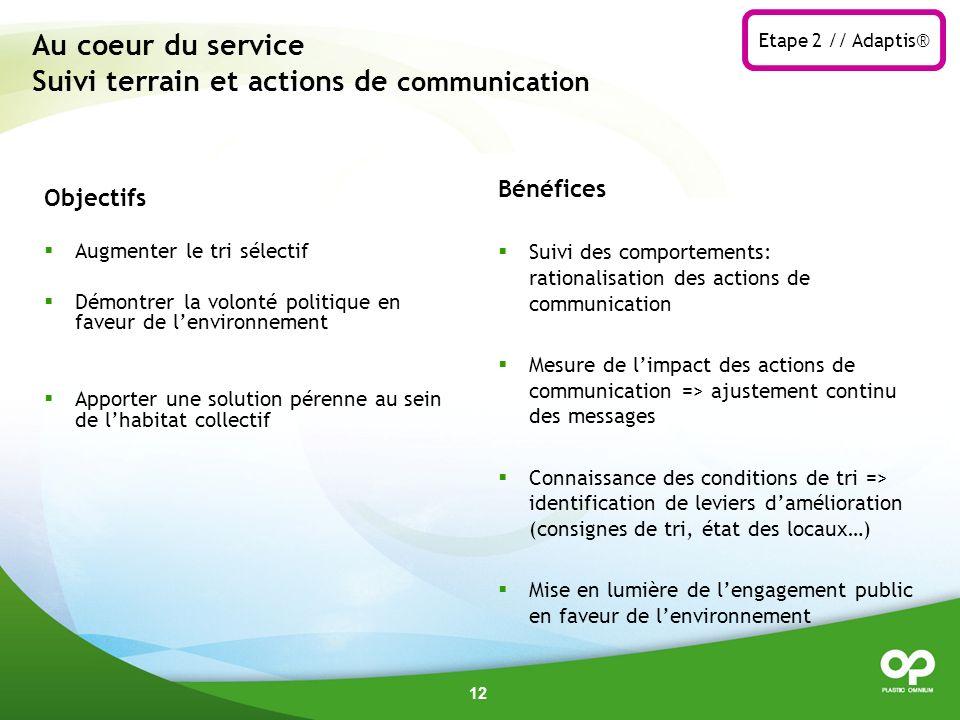 Au coeur du service Suivi terrain et actions de communication