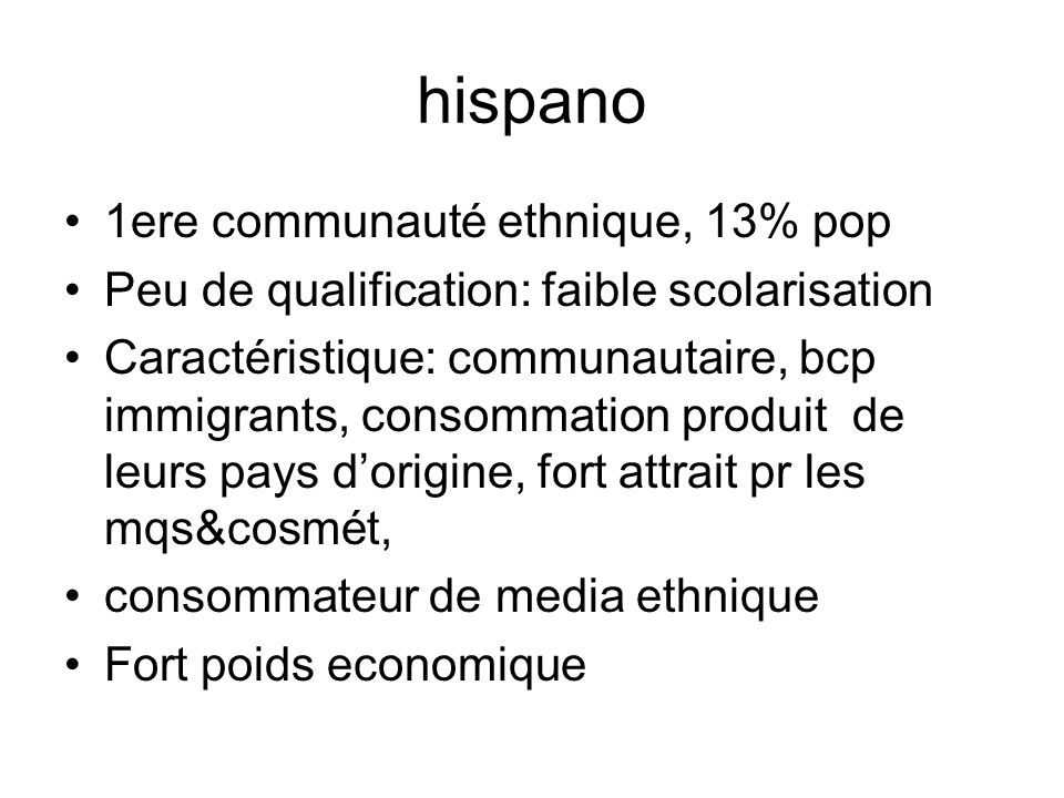hispano 1ere communauté ethnique, 13% pop