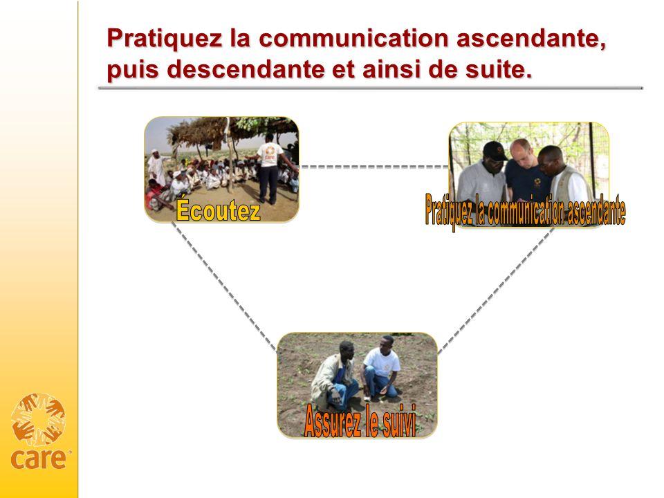 Pratiquez la communication ascendante