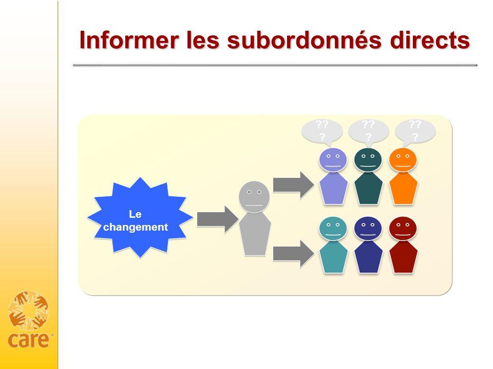 Informer les subordonnés directs