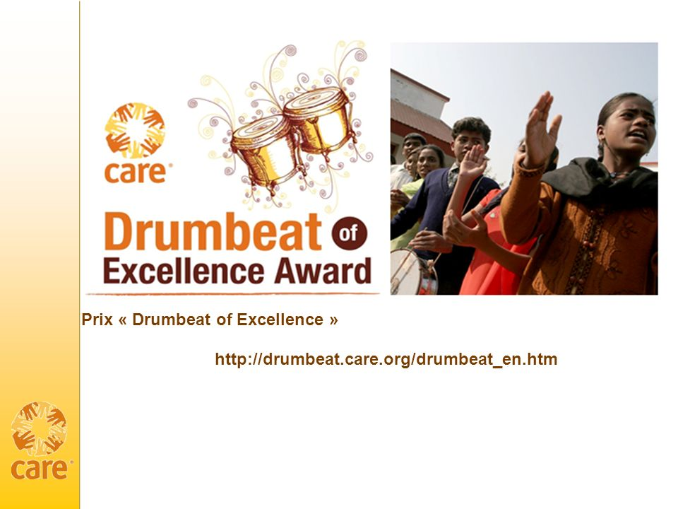 Prix « Drumbeat of Excellence »