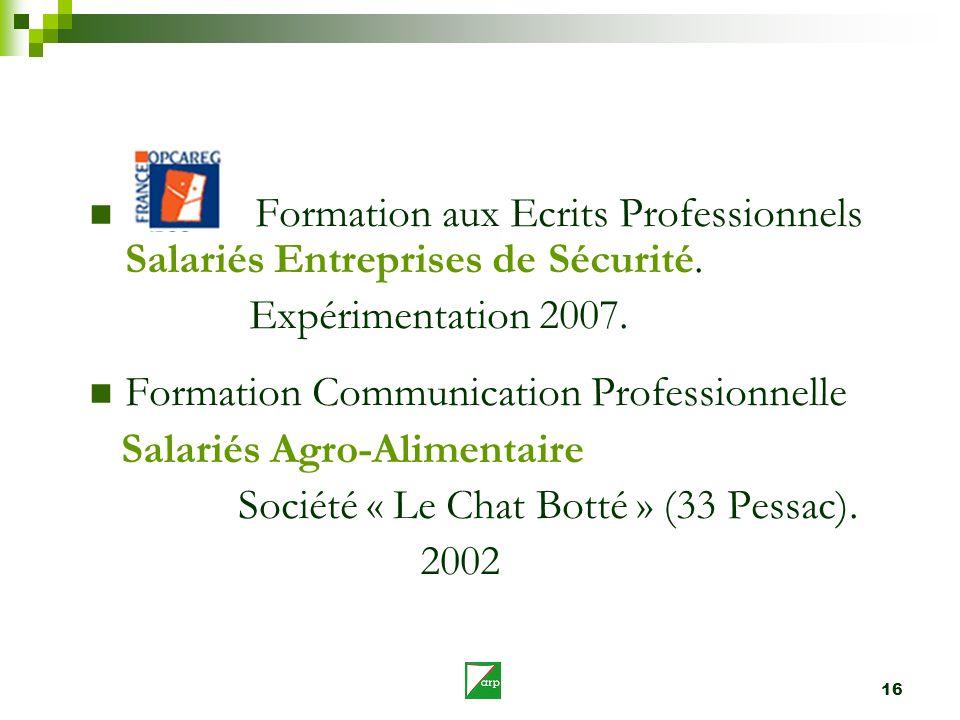 Formation aux Ecrits Professionnels Salariés Entreprises de Sécurité.