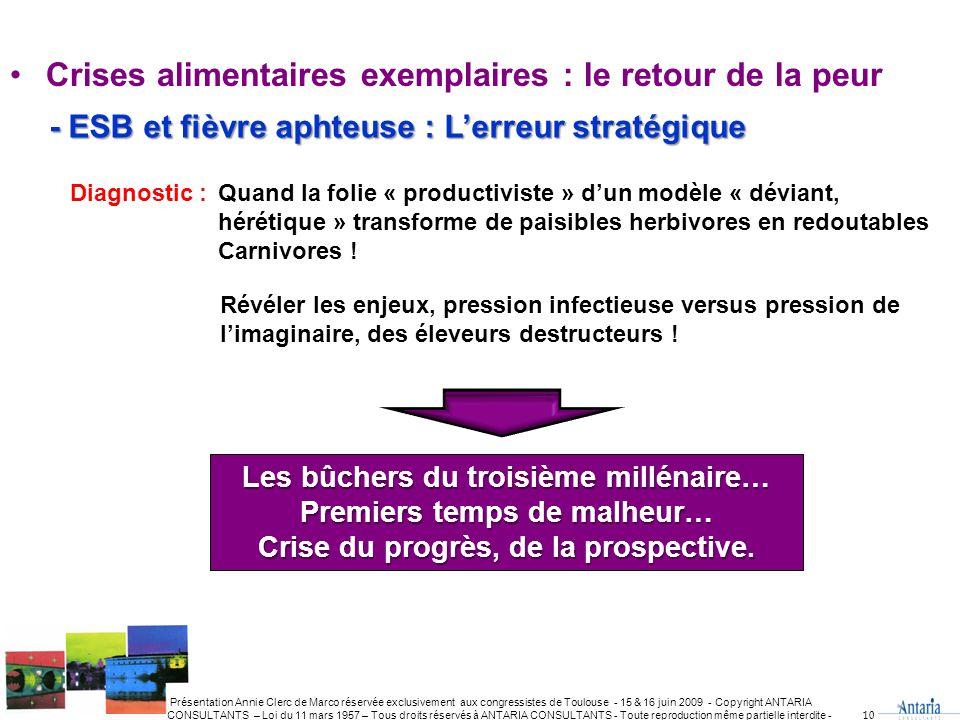 - ESB et fièvre aphteuse : L'erreur stratégique