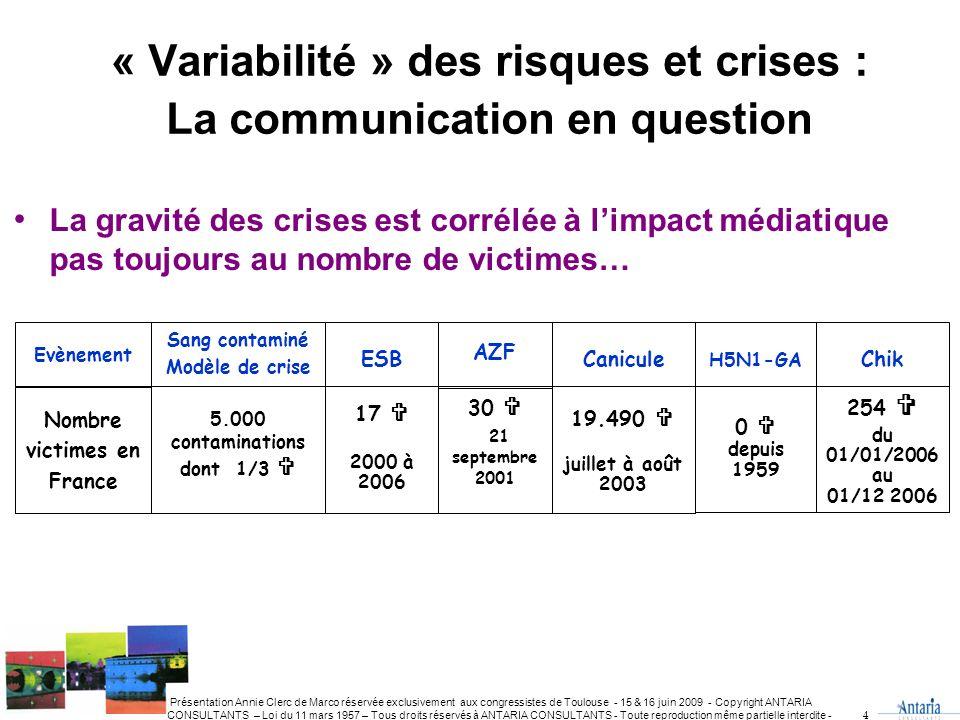 « Variabilité » des risques et crises : La communication en question