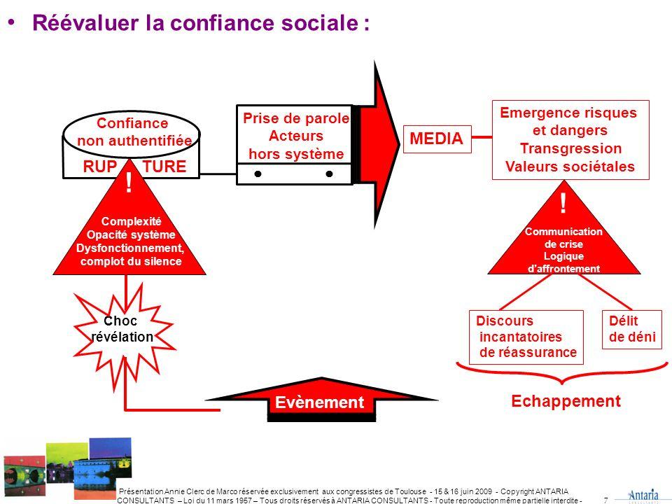 ! ! Réévaluer la confiance sociale : MEDIA RUP TURE Evènement