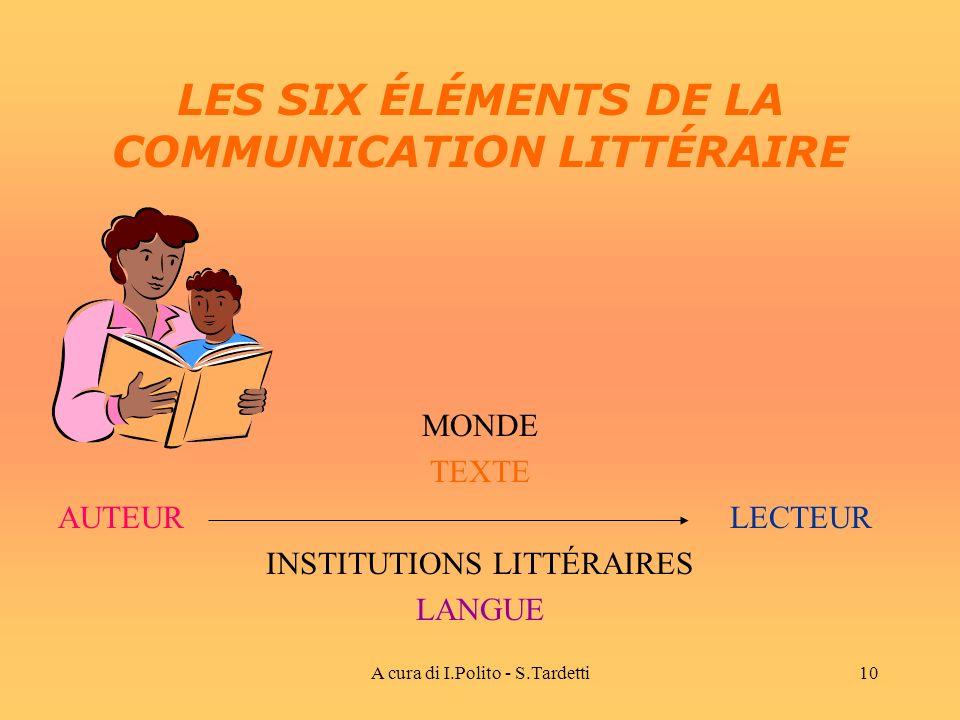LES SIX ÉLÉMENTS DE LA COMMUNICATION LITTÉRAIRE