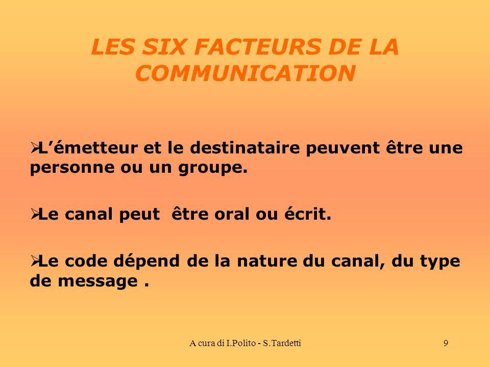 LES SIX FACTEURS DE LA COMMUNICATION