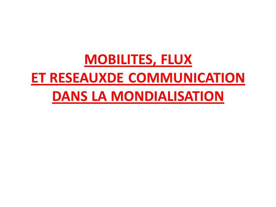 MOBILITES, FLUX ET RESEAUXDE COMMUNICATION DANS LA MONDIALISATION