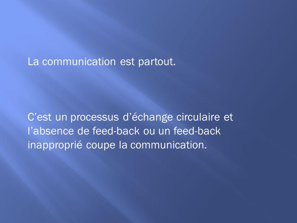 La communication est partout.