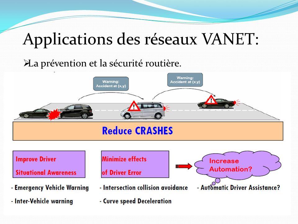 Applications des réseaux VANET: