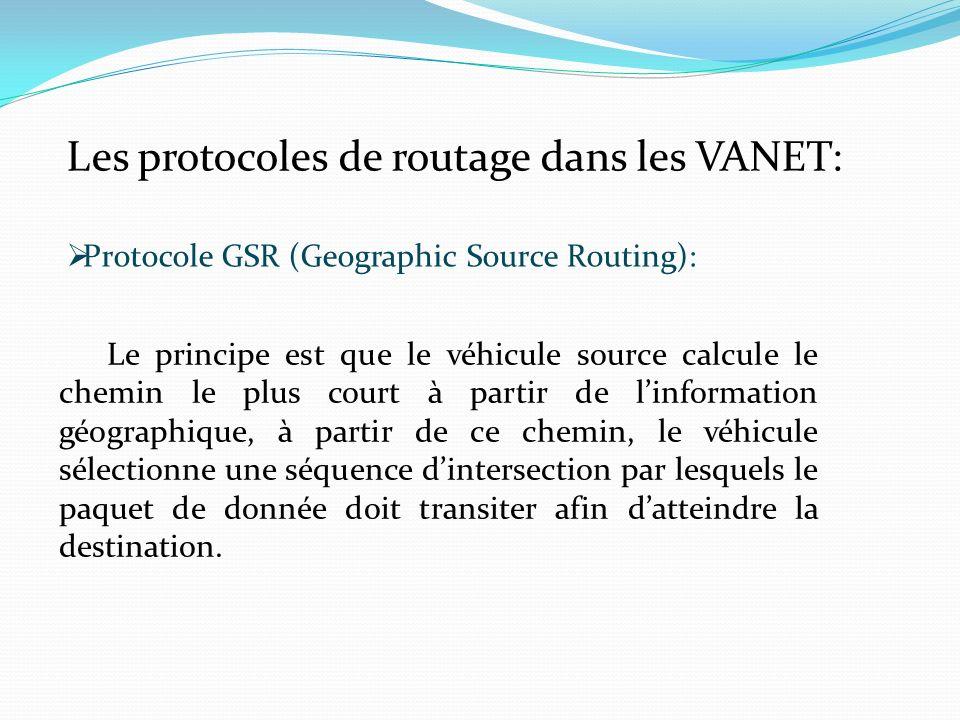 Les protocoles de routage dans les VANET: