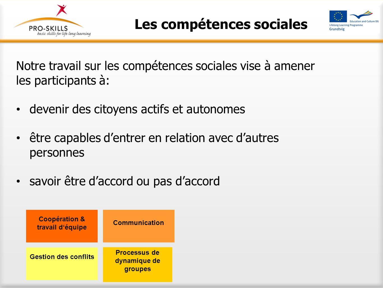 Les compétences sociales