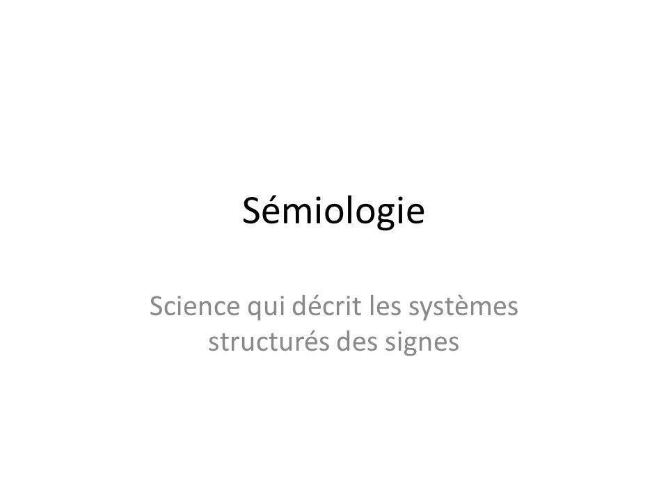 Science qui décrit les systèmes structurés des signes