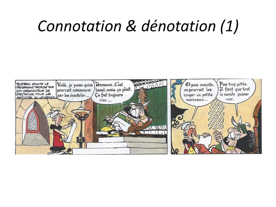 Connotation & dénotation (1)